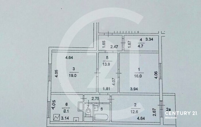 Серия дома П-55, 1999 г постройки. Предлагается к продаже 3 комн квартира