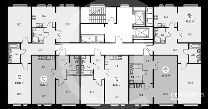 Супер предложение двухкомнатная квартира в ЖК комфорт класса