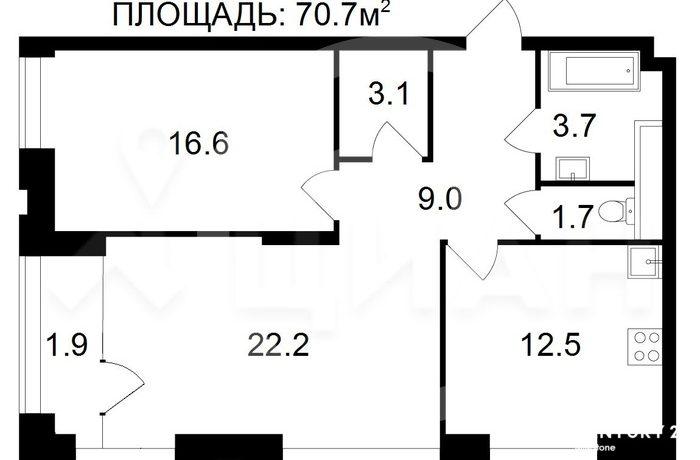 Высокий этаж по выгодной цене!