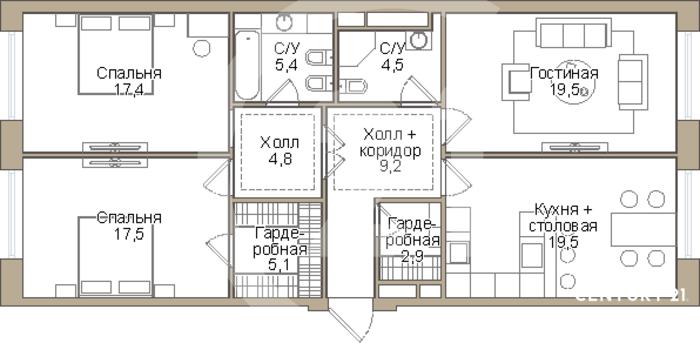 Продаётся видовая 3-х комнатная квартира в ЖК бизнес-класса THE MID