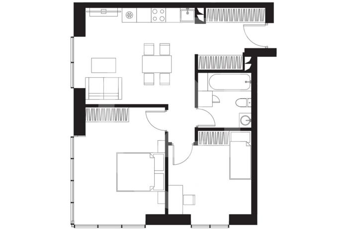 Квартира с огромной кухней