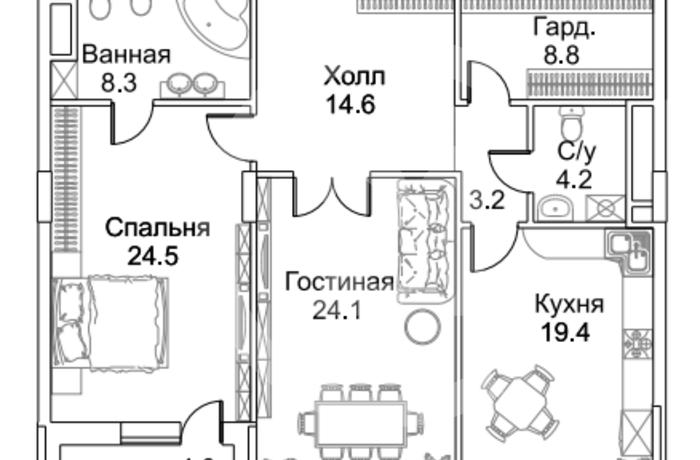 В продаже квартира свободной планировки