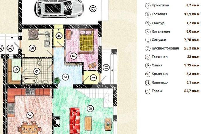 Продаётся уютный дуплекс.Общая площадь 213.8 кв.м